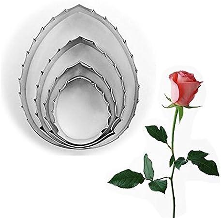 Stainless Steel Fondant Rose Flower Petal Sepal Leaf Cake Mold Cookie Cutter Set