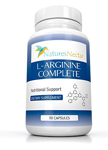 L Arginine Supplement Nitric Oxide Booster Supplements NO2 With lecithin powder Now Over 2,000 mg per serving of Pure Arginine – 90 Capsules l argenine larginine l argine