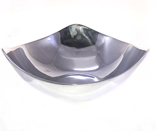 Handcrafted Pewter 3 Wave Salad Bowl