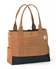 Face the day head on with the Carhatt Legacy Women's Tote, the bag that's built strong like you. From work to home and everywhere in between you can tackle anything that comes your way. Constructed of rugged 600D Poly with Rain Defender durab...