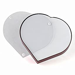 Valentines Gift Zonman Rotating Magnetic Levitation Heart Shaped Photo Frame(Heart)
