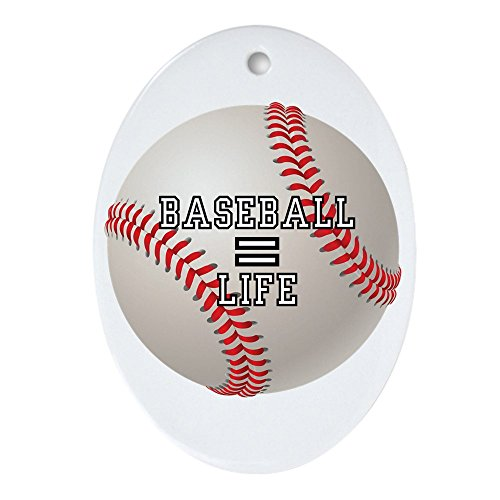Ornament (Oval) Baseball Equals Life
