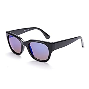 Naivo Women's YJMH098-3 Gradient Rectangular Poker Sleek Sunglasses, Eye's Black/Navy
