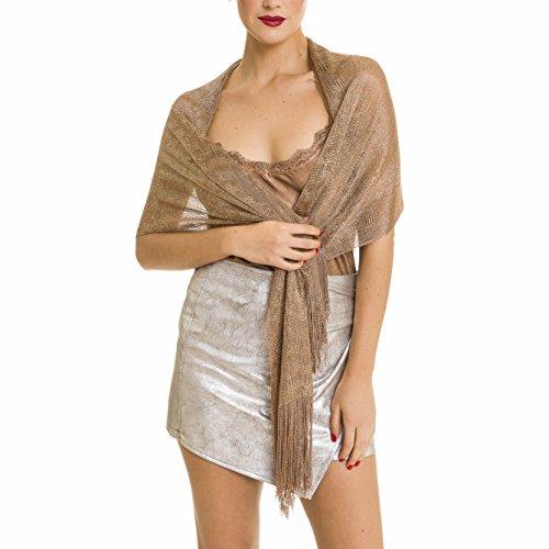 Shawl Wrap Fashion Scarf for Women Spring Winter: Evening Dresses, Wedding, Party, Bridal (Bronze)