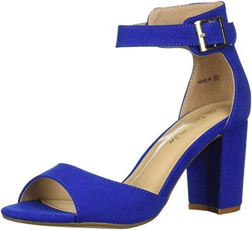 DREAM PAIRS Womens HHER Pump Royal Blue sfkH6z6uif