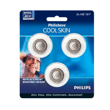 Philips Norelco Cool Skin Replacement Heads (3) HQ167/3 ()