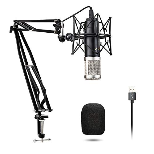 Recording Microphone VeGue Prefessional USB Condenser Microphone Kit with 24mm