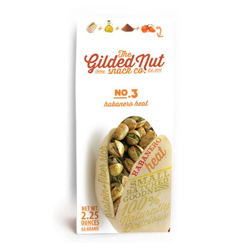 The Gilded Nut - Habanero Heat Pistachios, In Shell, Seasoned & Roasted - 2.25 oz (Pack of 6)