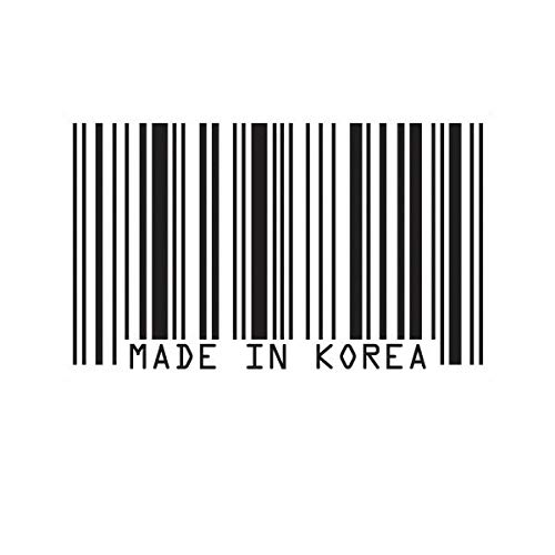 Made in Korea Barcode Sticker Decal Vinyl JDM Haters UPC Korean Vinyl Decal Sticker Car Waterproof Car Decal Bumper Sticker 5