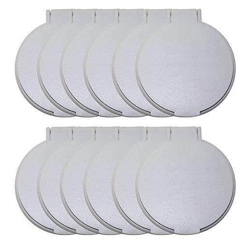 Round Mirror, Set of 12, White