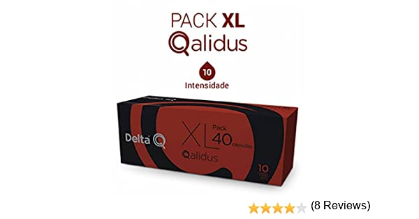 Pack Xl Café Tostado Molido 40 Cápsulas Qalidus Delta Q 40 X 5.5 G ...