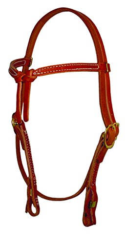 Knotted Browband Headstall with Quick Change (Natural) ()