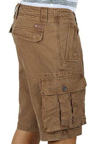 fit Regular solid Hombres 100 De Bermudas Cinnamon Cortos Pantalones Pantalón Pombal Para Cargo 5056 Algodón 7r7TZ
