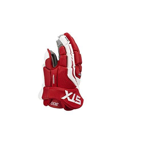 Line In Hockey Gloves (STX Surgeon 300 Senior Ice Hockey Gloves, Red/White, 14