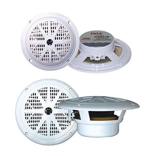 Pyle(r) Plmr51w Hydra Series Dual-Cone Waterproof Stereo Speakers (5.25