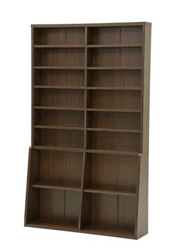 不二貿易 リビング収納 書棚 本 収納 幅120 x 高さ 200cm ブラウン 67767 B001RNP7B6   幅120cm