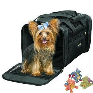 Sherpa Delta Airlines Deluxe Pet Dog Cat Carrier Airline Approved Medium Black to 16lbs. BONUS Sherpa Mini Baby Dragon Toy by Sherpa