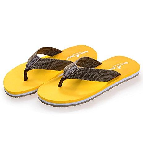 Lecoon Hombre de Sandalias amarillo Lona rwqXxYfrSg