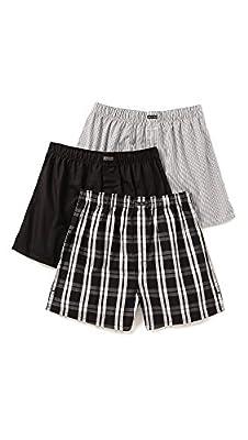 Calvin Klein Underwear Men's 3 Pack Woven Boxers