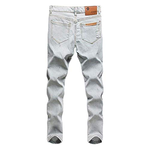 Comodo Uomo A Ufige New Wash Vita Trend Pantaloni Jeans Bodycon Battercake Chino Bianca Normale Pants qgwSOO