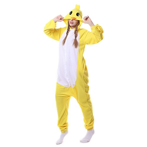 ROYAL WIND Unisex-adult Kigurumi Animal Cosplay Costume Pajamas (X-Large, Yellow (Gizmo Baby Costume)