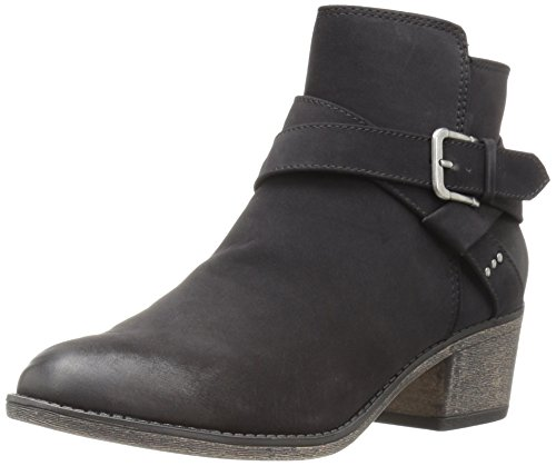 White Mountain Women's Yandra Ankle Bootie, Black, 7 M US (Black And White Booties)