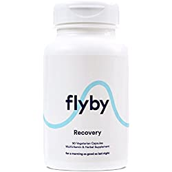 Flyby Hangover Prevention & Recovery Pills (90 Vegetarian Capsules) • Dihydromyricetin (DHM), Organic Milk Thistle, Prickly Pear, N-Acetyl-Cysteine • Certified Organic & Made in the USA