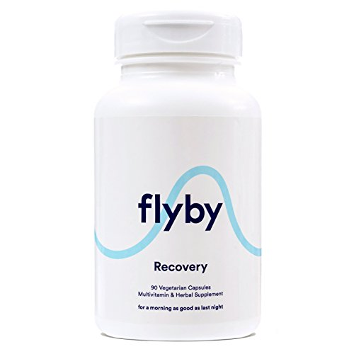 Flyby Hangover Cure & Prevention Pills (90 Capsules) | Dihydromyricetin (DHM), Chlorophyll, Prickly Pear, N-Acetyl-Cysteine, Milk Thistle for Alcohol Recovery | Certified Organic & Made in USA
