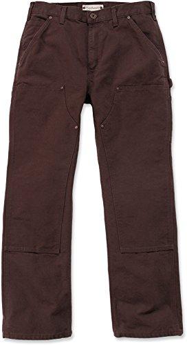 marrone da salopette doppia nero Anatra Carhartt lavato S456 42 faccia a lavoro Eb136 Blk 130 scuro q8nwUa6