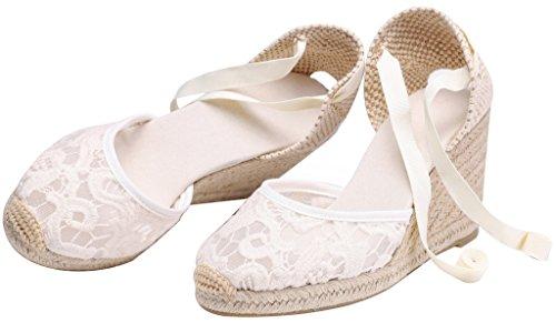 Platform White U Ankle Espadrilles Sandals Women Wedges Classic tie Shoes Soft Lace 3