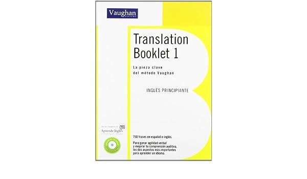 Translation booklet 7: richard vaughan: 9788496469792: amazon. Com.