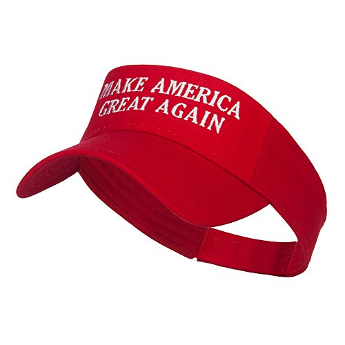 Make America Great Again Embroidered Visor - Red -