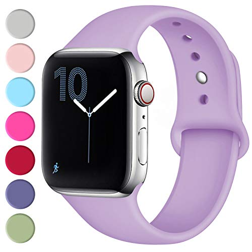 Fuleda Compatible with Apple Watch Band 40mm 38mm, Replacement Sport Bands for iWatch Series 4, Series 3, Series 2, Series 1, Lavender, M/L