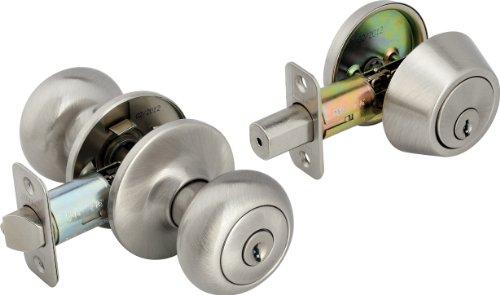 Legend 809136 Legend Decorative Knob Combination Entry and Deadbolt Lockset, Satin ()