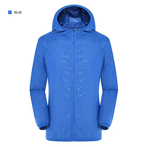 (Quick Dry Clothing Sport Skin Thin Couples Coats Men women Royal Blue)
