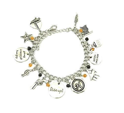 Superheroes Hamilton Broadway Musical Theme Multiple Charms Bracelet w/Gift Box
