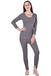a0189b9b8b19 STC Lux Cottswool Women's Cotton Thermal 3/4th Sleeves Top and Slim Lower  (STC011_M
