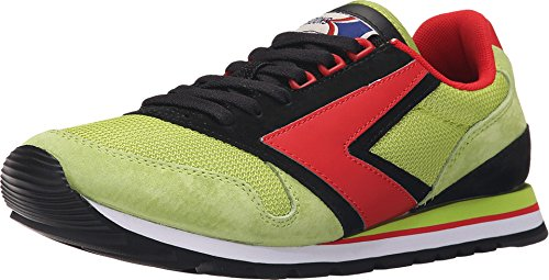 Brooks Heritage Mens Chariot Lime Green / Black / Sneaker Ad Alto Rischio Rosso 7 D (m)