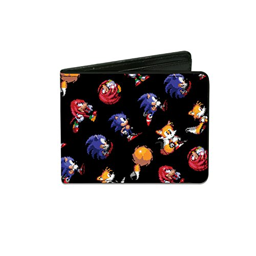 Men'sSonic Classic Wallet Sonic/tails/knuckles Pixelated ...