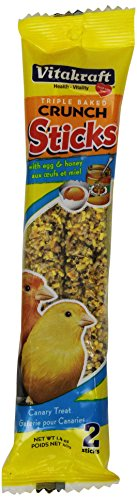 Vitakraft Canary Egg & Honey Treat Sticks 2 Pack, 1.4 Ounce