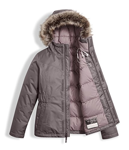 The North Face Girls Greenland Down Parka Rabbit Grey (Medium) by The North Face (Image #2)