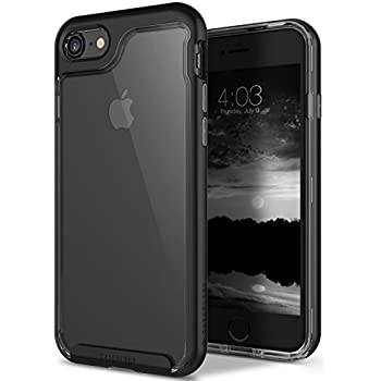Caseology [Skyfall Series] Case for iPhone 8 / iPhone 7 - Slim Design Clear Transparent Protective Scratch Resistant Air Space Cushion Cover - (Black / Space Gray)