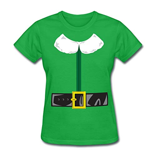 Spreadshirt Christmas Elf Costume Women's T-Shirt, XL, bright green