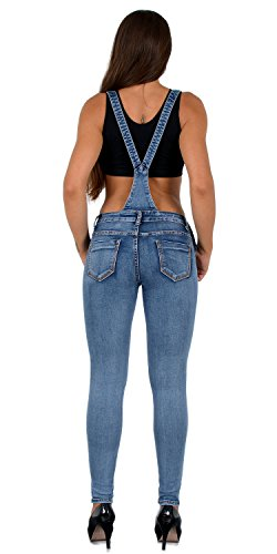 H340 by tex Casual Dungaree Jeans Overall Jumpsuit Skinny Womens Women Z118 Jeans vpfFapqw