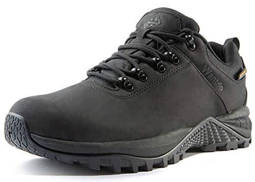 Wantdo Waterproof Men's Hiking Shoes Low Cut Hiking Boots Outdoor Hiking Trekking Backpacking Mountaineering Hydroguard