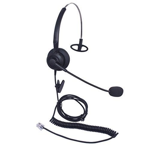 Audicom H200CSB Mono Call Center Headset headphone with Mic for Cisco Unified Telephone IP Phones 7931G 7940 7941 7942 7945 7960 7961 7962 7965 7970 and Plantronics M10 MX10 Vista ()