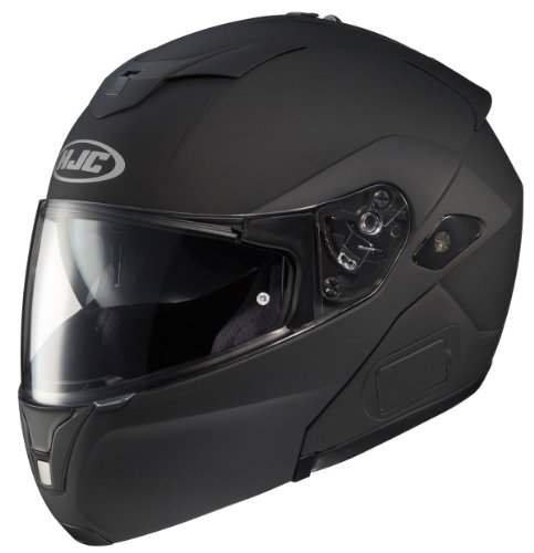 HJC SY-MAXBT III Bluetooth Modular Motorcycle Helmet (Matte Black, XX-Large)