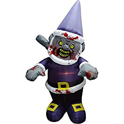 Halloween Inflatable-Zombie Gnome With Icepick-Halloween Yard Decoration