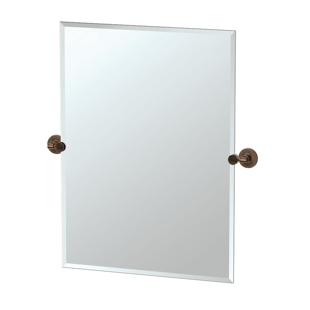Gatco 4499S Montgomery Rectangle Mirror, Bronze