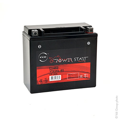 NX - Baterí a moto YTX20L-BS/ WPX20LBS 12V 20Ah